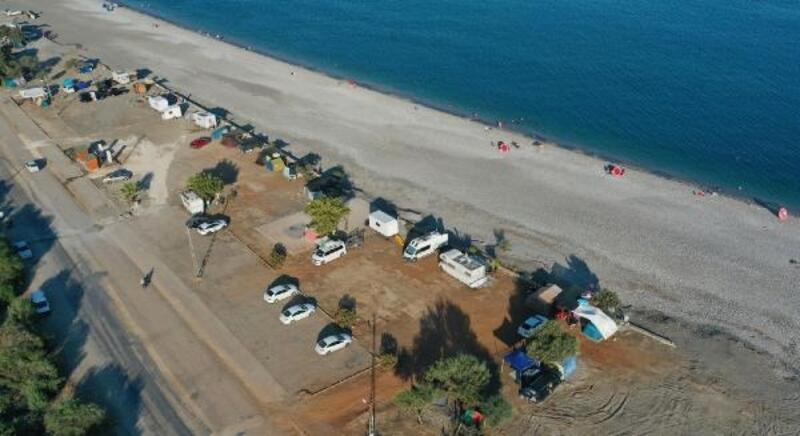Denize sıfır karavan ve çadır kent