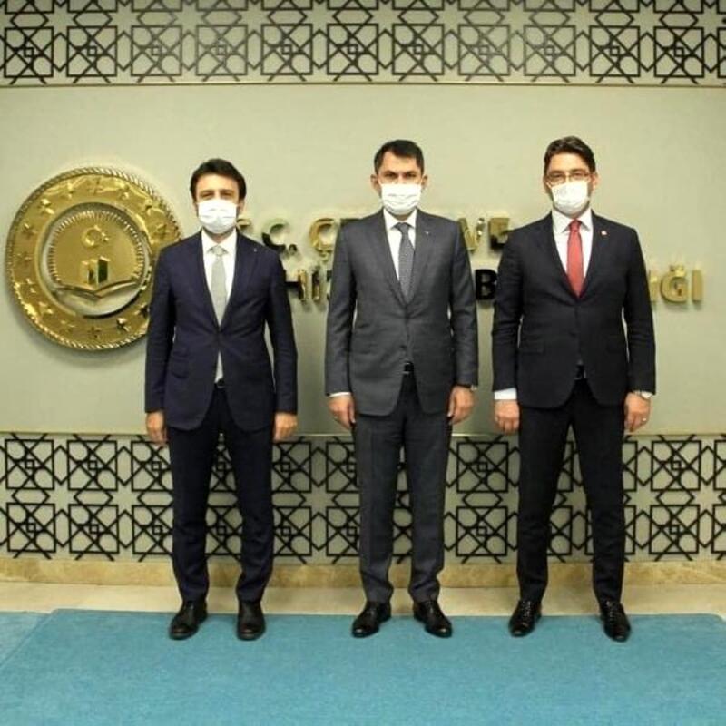 Başkan İşlek, Bakan Kurum'la görüştü