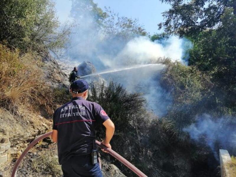 Yangın evlere sıçramadan söndürüldü
