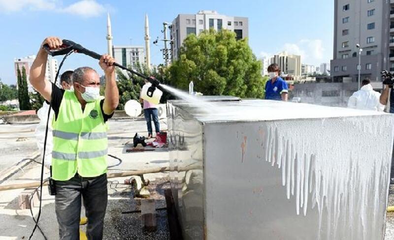 Devlet okullarının su depoları temizleniyor