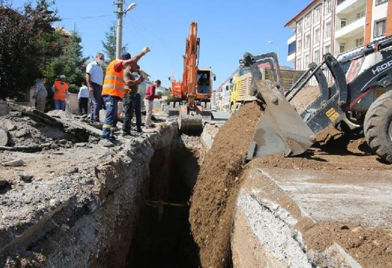 Sivas'ta yağmur suyu hatları yenileniyor