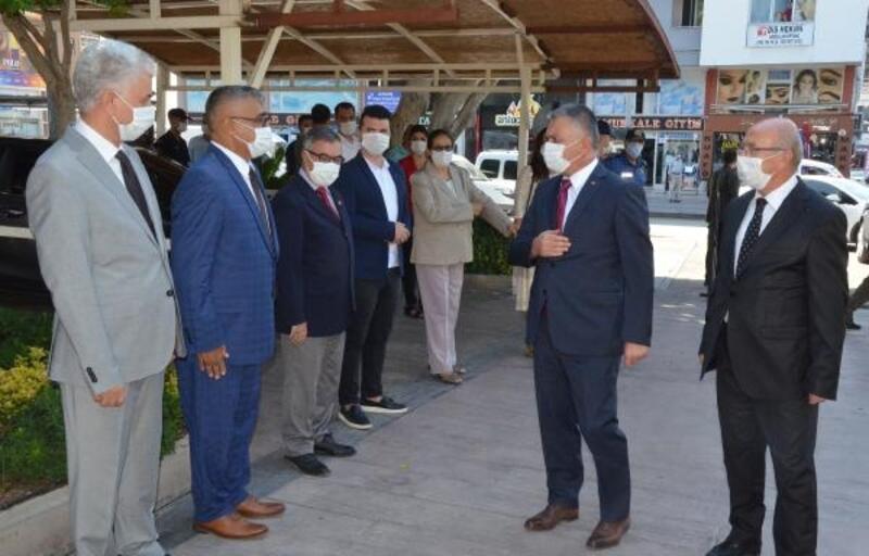 Vali Yazıcı'dan Serik'e ziyaret