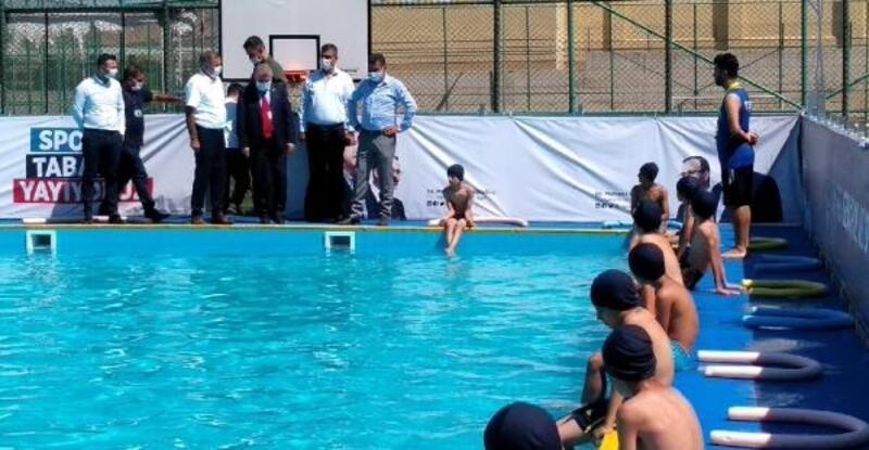 Gercüş'te portatif havuzu kuruldu