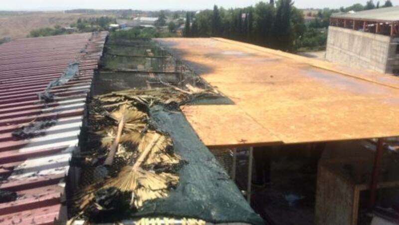 Adıyaman'da teras katında yangın çıktı