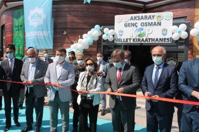 Aksaray'da 'Millet Kıraathanesi' hizmete açıldı