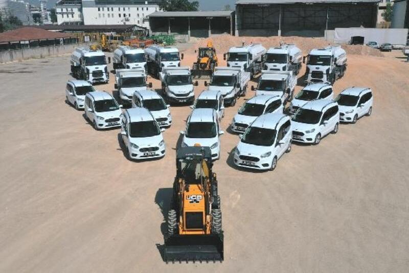Nilüfer'in araç parkı büyüyor