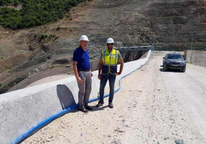Başkan Engin: Pamukluk Barajı'ndaki çalışmalar memnuniyet verici düzeyde