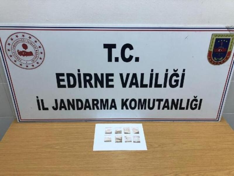 Edirne'de araçta uyuşturucu ele geçirildi