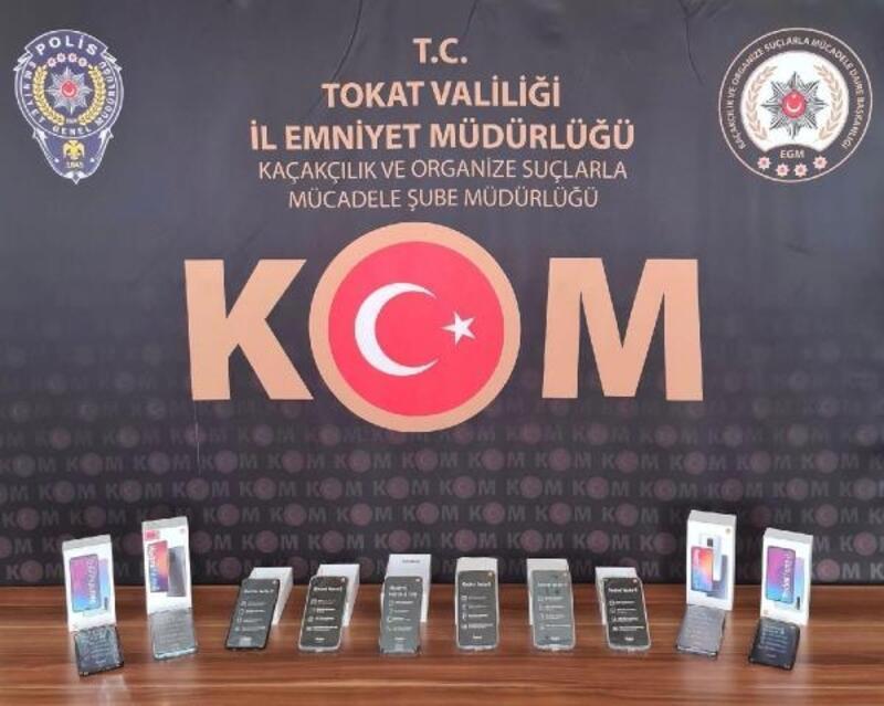 Tokat'ta kaçak cep telefonu operasyonru