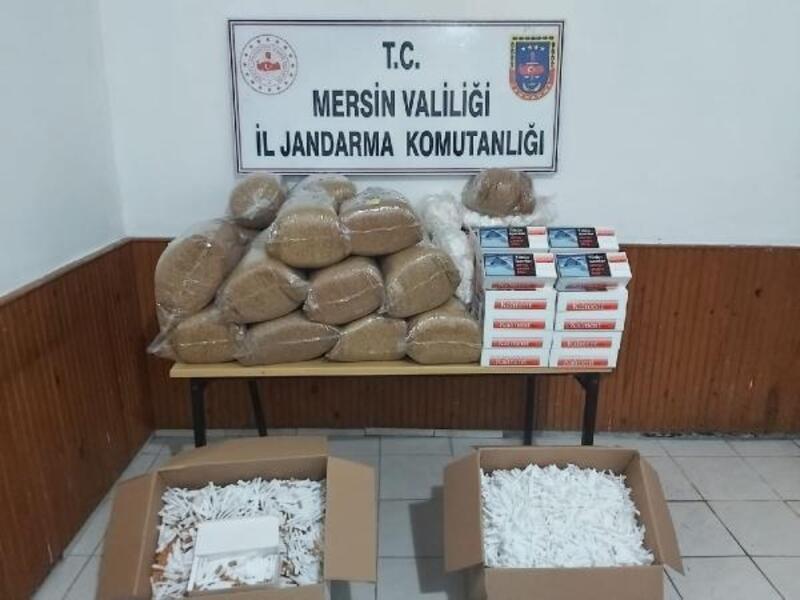 Erdemli'de 120 kilo kaçak tütün ele geçirildi