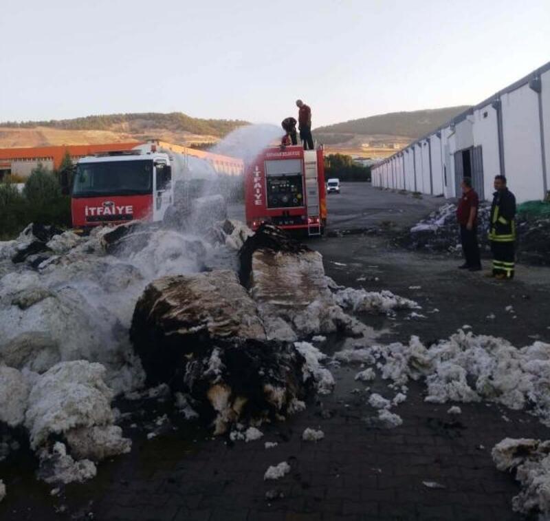 Adıyaman'da tekstil fabrikasında yangın