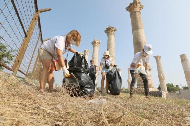 2 bin 500 yıllık tarihi mekanda temizlik