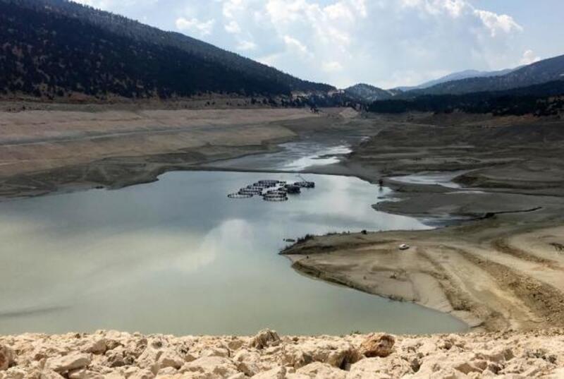 Çayboğazı Barajı'nda su kalmadı