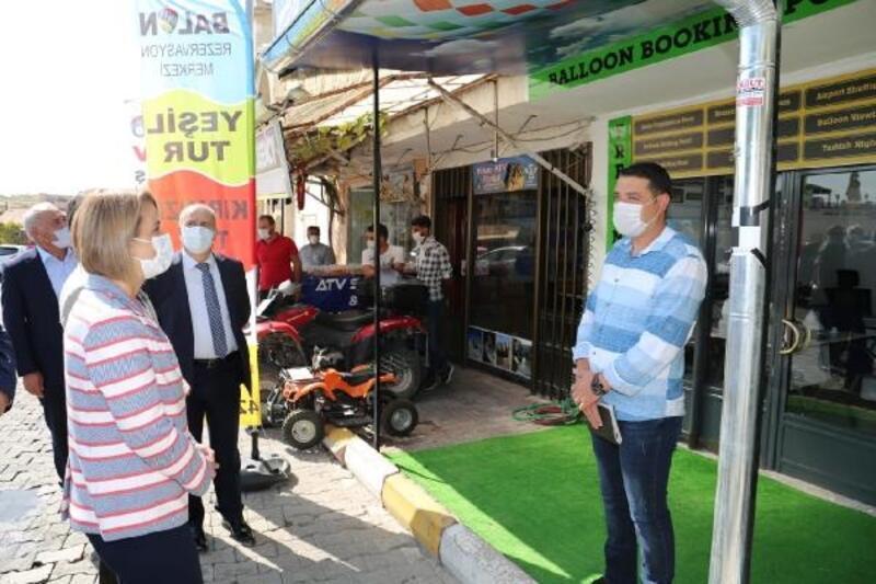 Nevşehir Valisi Becel'den koronavirüs denetimi