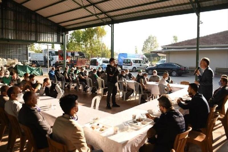 İnegöl Belediye Başkanı Taban, park bahçeler personeliyle buluştu
