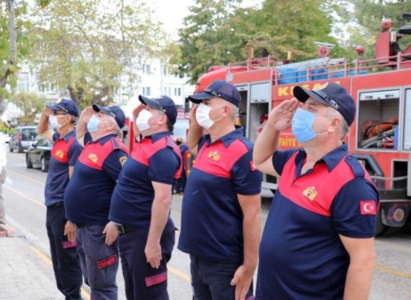 Maskeli ve sosyal mesafeli 'İtfaiye Haftası' kutlaması