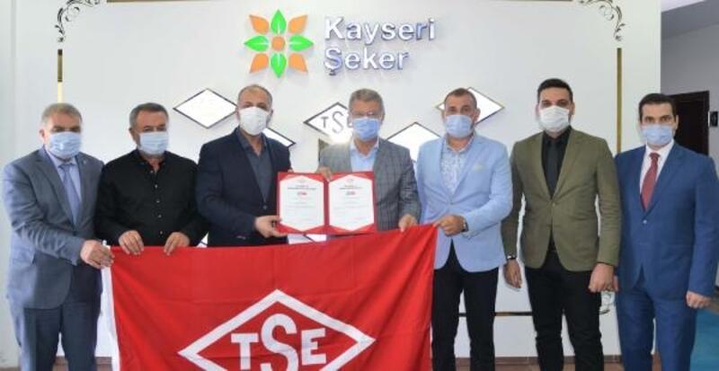 Kayseri Şeker Fabrikası'na 'TSE Covid-19 Güvenli Üretim Belgesi'