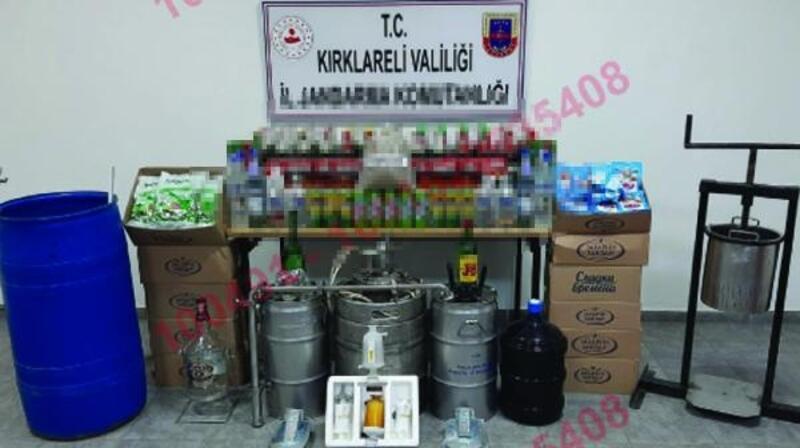 Kırklareli'de sahte içki operasyonu: 2 gözaltı