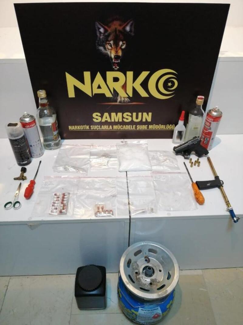 Samsun'da narkotik polisinden 'metamfetamin' imalatı operasyonu
