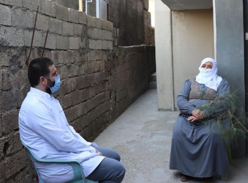 Midyat'ta yaşlılar, koronavirüse karşı bilgilendirildi