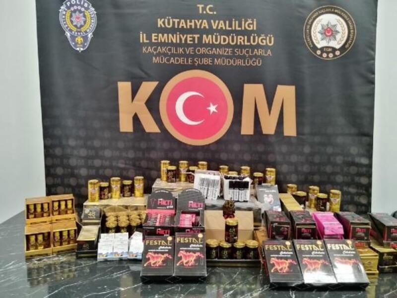 Kütahya'da bin 650 kaçak cinsel gücü artırıcı ürün ele geçirildi