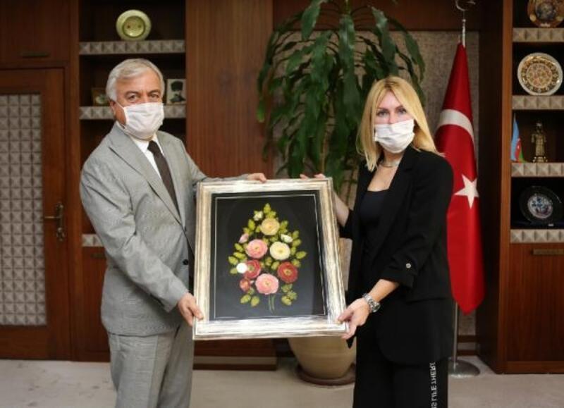 Alanya HEP'ten, Rektör Özkan'a ziyaret