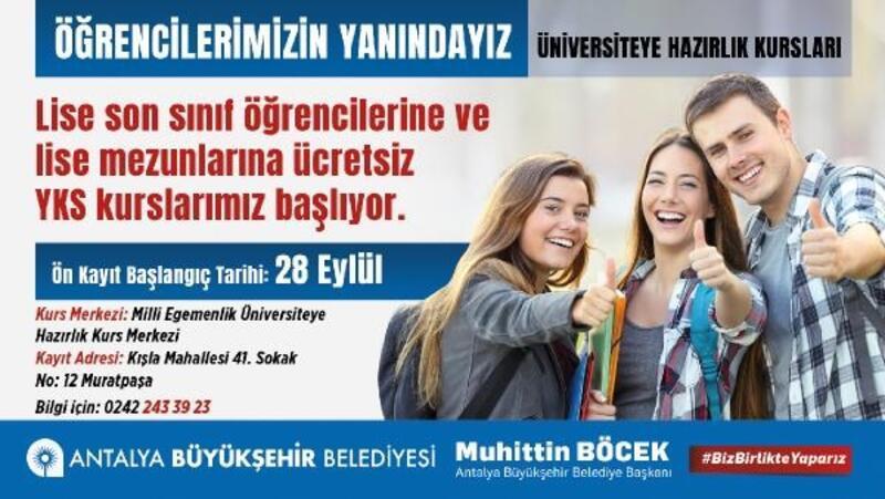 Büyükşehir'den öğrencilere ücretsiz kurs