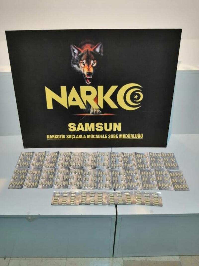 Samsun'da uyuşturucu ile yakalanan şüpheli gözaltında
