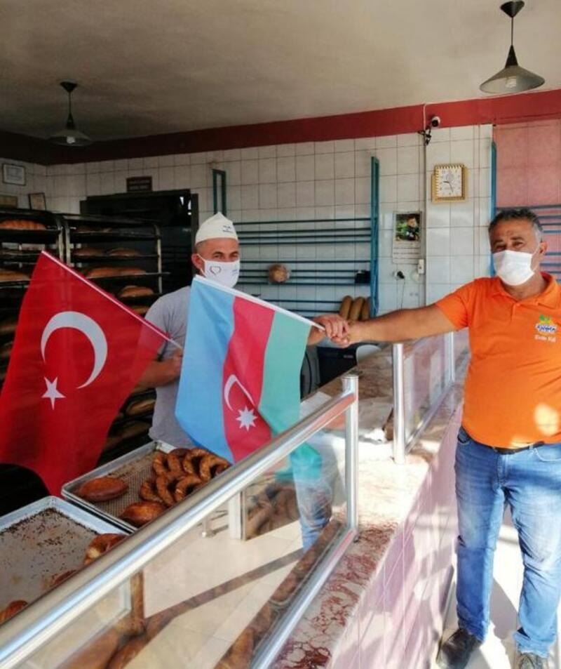 Finike'den Azerbaycan'a destek