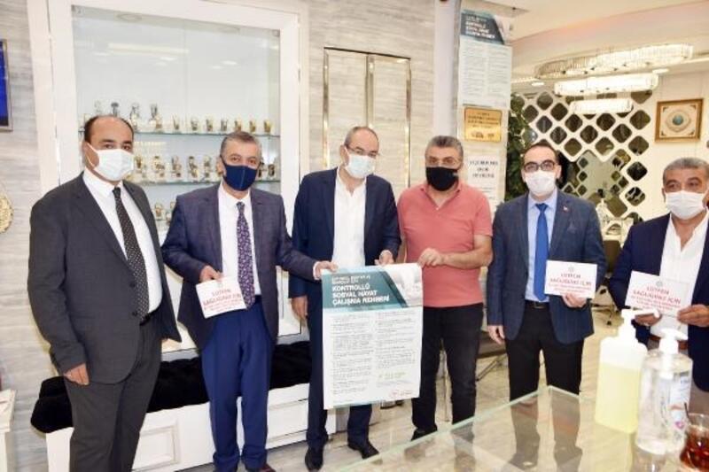 KTO Başkanı Gülsoy'dan çarşı esnafına maske ve mesafe denetimi