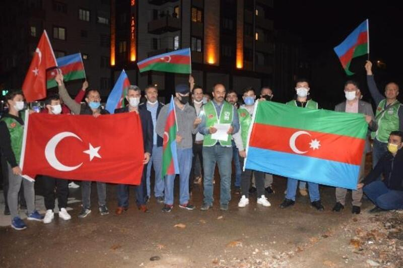 Orhangazi'de Azerbaycan'a destek için araç konvoyu düzenlendi
