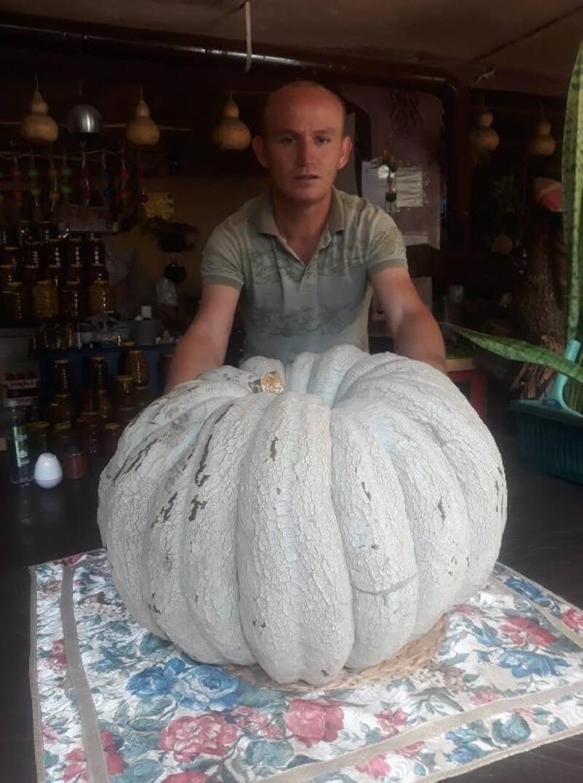 53 kilogramlık bal kabağı yetiştirdi