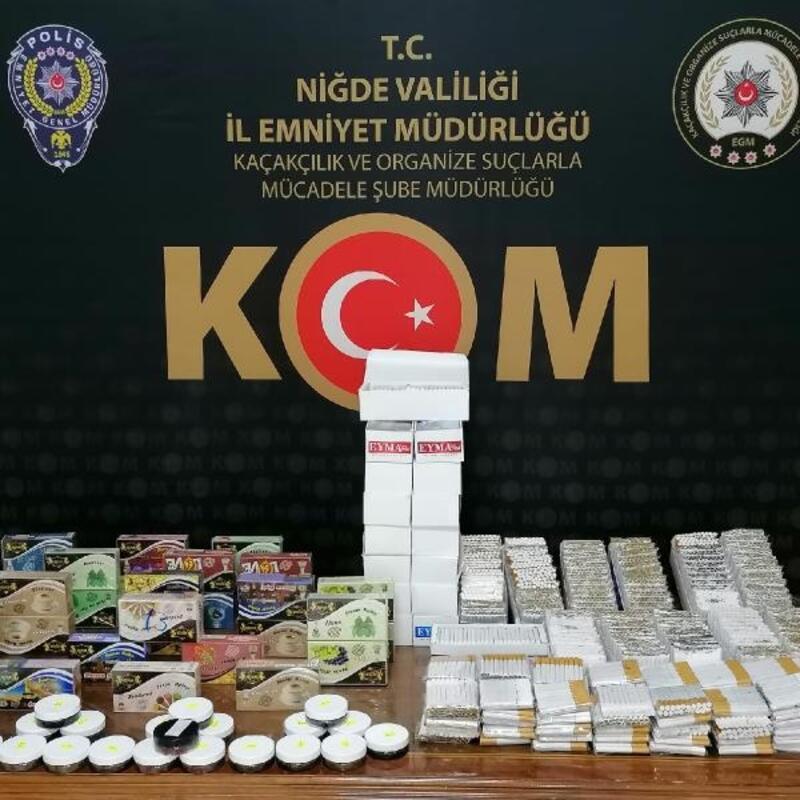 Niğde'de kaçak tütün ve sigara operasyonu: 2 gözaltı