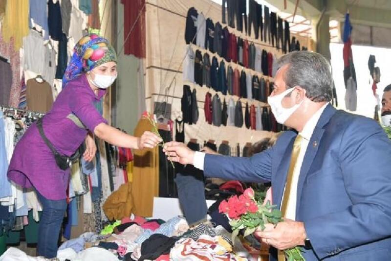 Başkan Soner Çetin, esnaf ziyaretlerini sürdürüyor