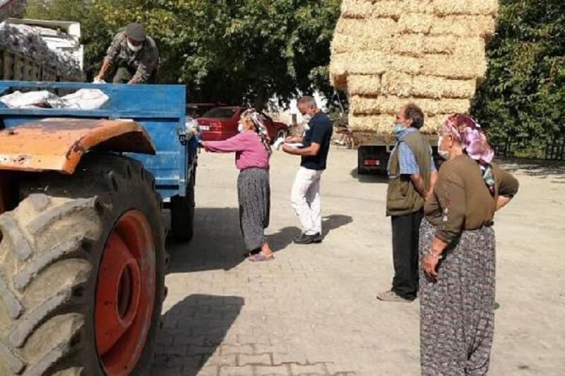 Mut'ta 2 bin 500 aileye kömür yardımı