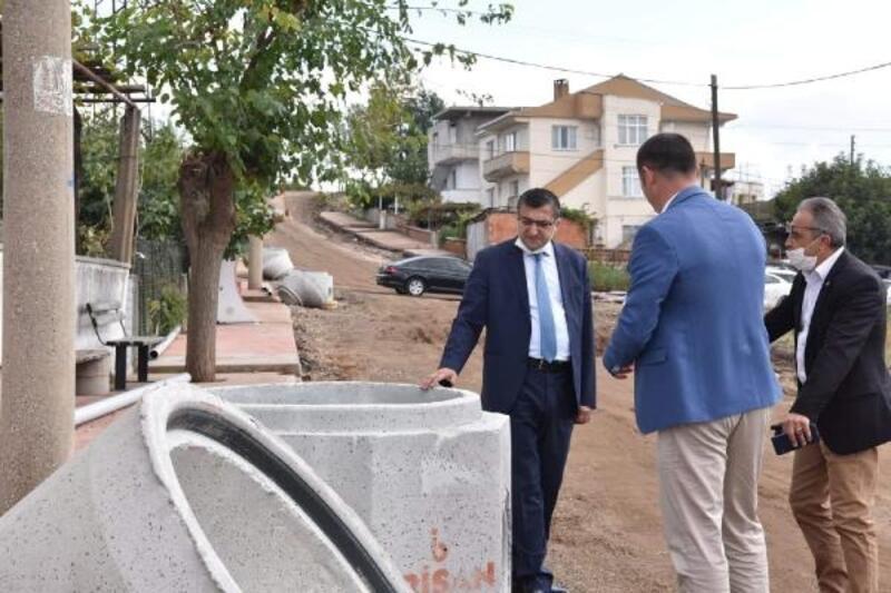 Çan Belediye Başkanı Öz, altyapı çalışmalarını yerinde inceledi