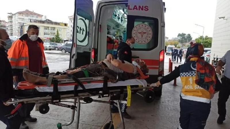 Merdivenden düşen işçi yaralandı