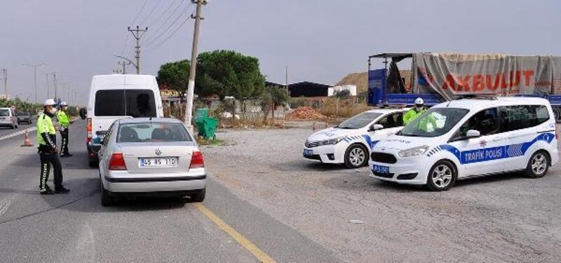 Turgutlu'da 'drone' ile denetlenen 45 sürücüye ceza