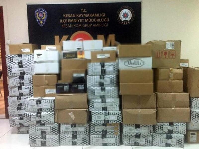 Keşan'da kaçakçılık operasyonu: 2 gözaltı