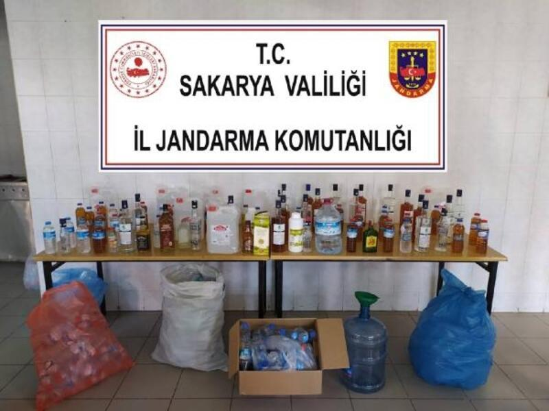 Sakarya'da sahte içki operasyonu