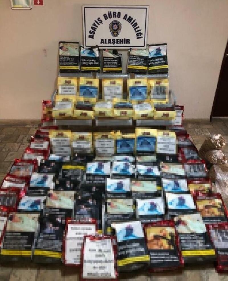 Alaşehir'de sahte bandrollü tütün satışına gözaltı