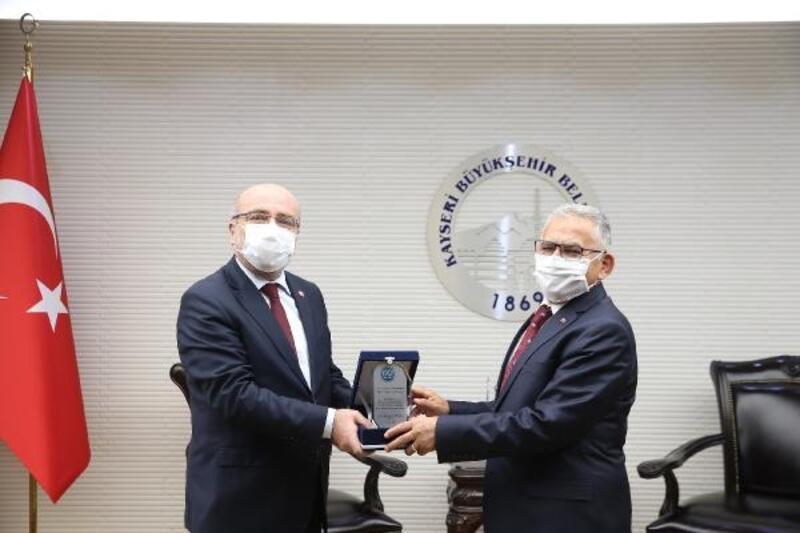 KAYÜ Rektörü Karamustafa'dan, Başkan Büyükkılıç'a ziyaret