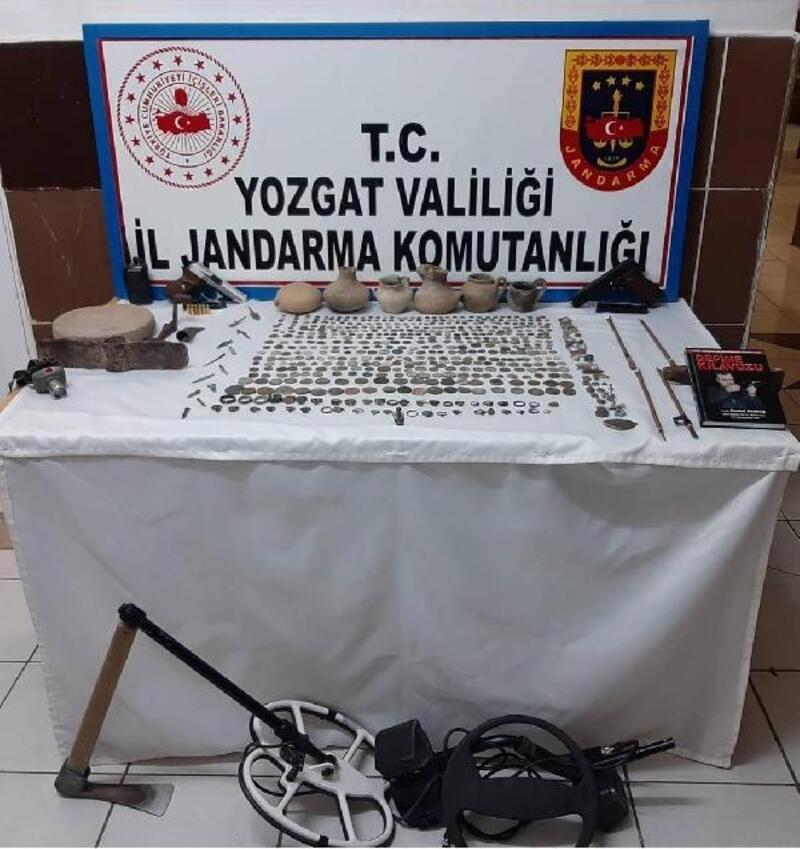 Yozgat'ta 451adet tarihi sikke ele geçirildi