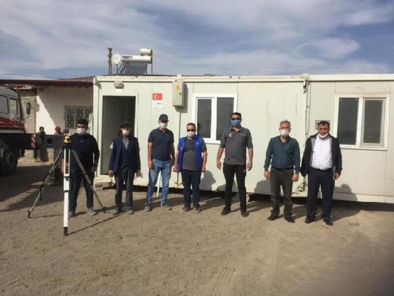 Obruk Köyü'ne 12 konteyner kuruldu