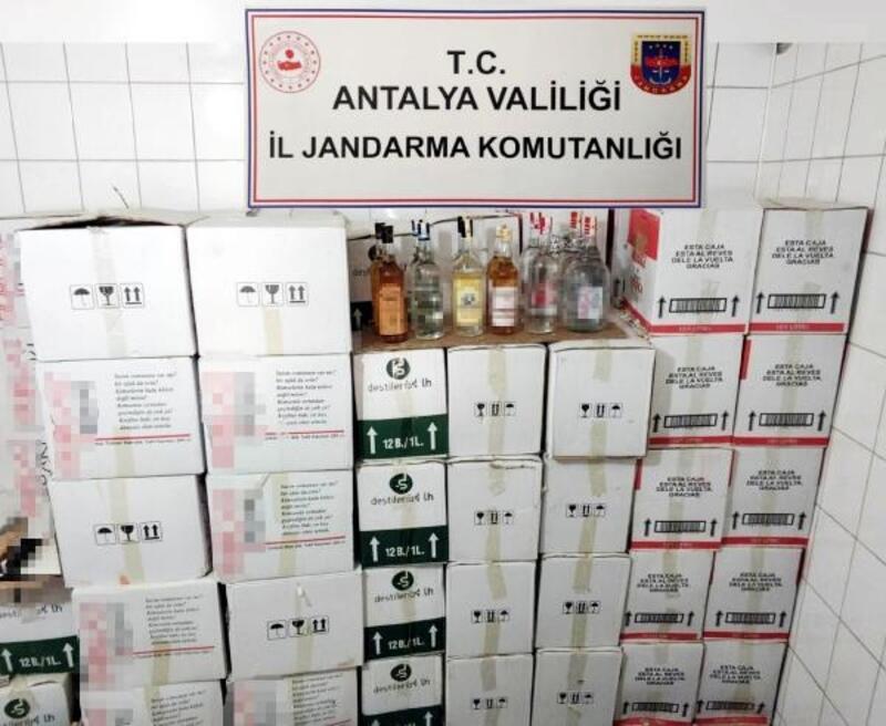 Manavgat'ta 1108 litre kaçak içki