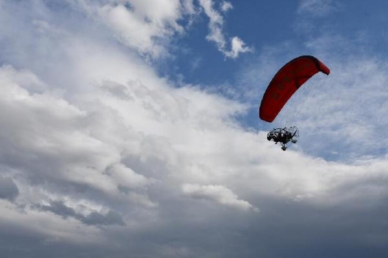 Engelli öğrenciler, 29 Ekim'i gökyüzünde kutladı