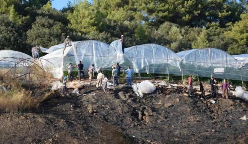 Kumlucalı çiftçi, yangının hasarını onarıyor