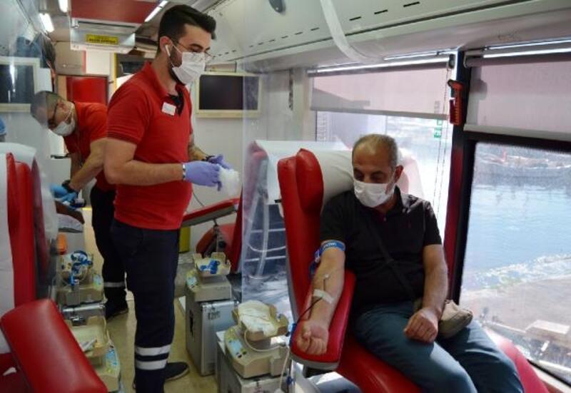 Kaşlılardan kan bağışı