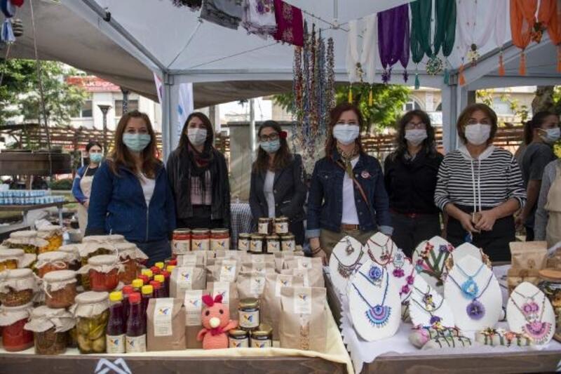 Kadın kooperatifleri Yoğurt Pazarı'nda ürünlerini sergilendi