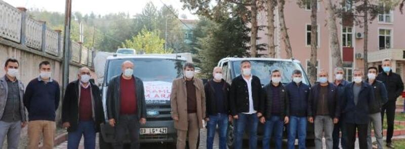 Sandıklı'dan İzmir'e yardım